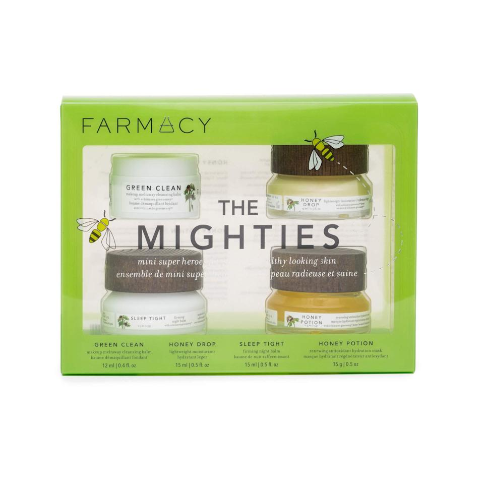 "<br><br><strong>Farmacy</strong> The Mighties Cosmetics Gift Set, $, available at <a href=""https://amzn.to/3abnTzr"" rel=""nofollow noopener"" target=""_blank"" data-ylk=""slk:Amazon"" class=""link rapid-noclick-resp"">Amazon</a>"
