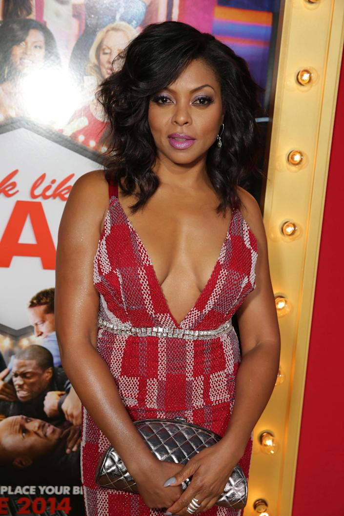 Taraji P. Henson seen at the The World Premiere of Screen Gems' 'Think Like a Man Too' on Monday, June 9, 2014 in Los Angeles. (Photo by Eric Charbonneau/Invision for Screen Gems/AP Images)