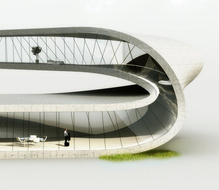 """A handout computer generated image shows a house designed by Dutch architecture practice Universe Architecture on January 14, 2013. A Dutch architect has designed a house """"with no beginning or end"""" to be built using the world's largest 3D printer, harnessing technology that may one day be used to print houses on the moon"""