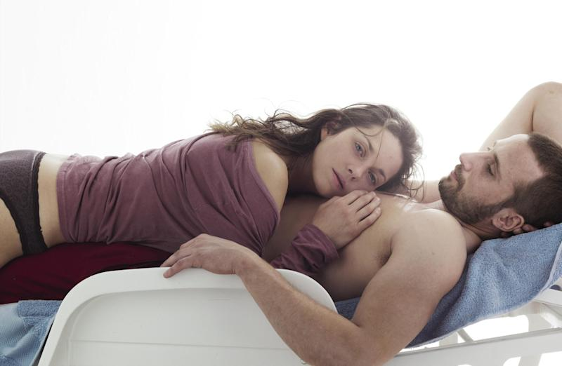 """This film image released by Sony Pictures Classics shows Marion Cotillard, left, and Matthias Schoenaerts in a scene from """"Rust and Bone."""" (AP Photo/Sony Pictures Classics)"""
