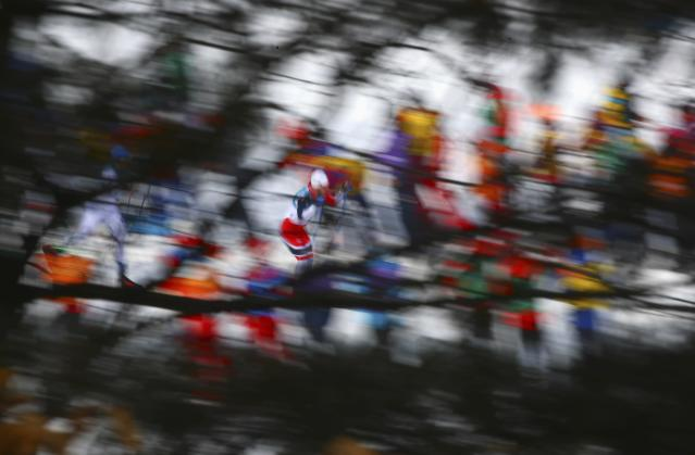 Cross-Country Skiing - Pyeongchang 2018 Winter Olympics - Men's 50km Mass Start Classic - Alpensia Cross-Country Skiing Centre - Pyeongchang, South Korea - February 24, 2018 - Martin Johnsrud Sundby of Norway competes. REUTERS/Carlos Barria