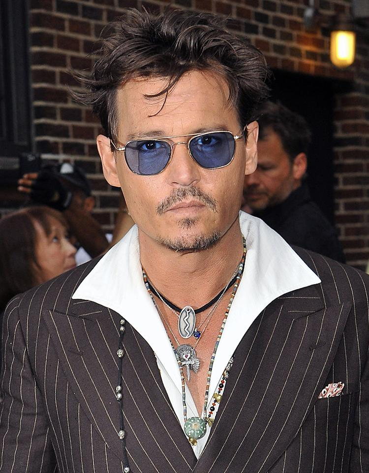 June 25, 2013: Johnny Depp appears on 'The Late Show with David Letterman' in New York City.