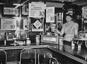 """<p>This diner from 1935 specialized in serving Quaker Oats dishes. Quaker introduced their famous <a href=""""https://www.quakeroats.com/about-quaker-oats/quaker-history"""" rel=""""nofollow noopener"""" target=""""_blank"""" data-ylk=""""slk:Quick Oats"""" class=""""link rapid-noclick-resp"""">Quick Oats</a> all the back in 1922. </p>"""