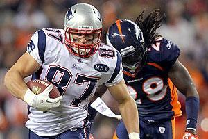 Rob Gronkowski had seven games in which he scored two TDs this season