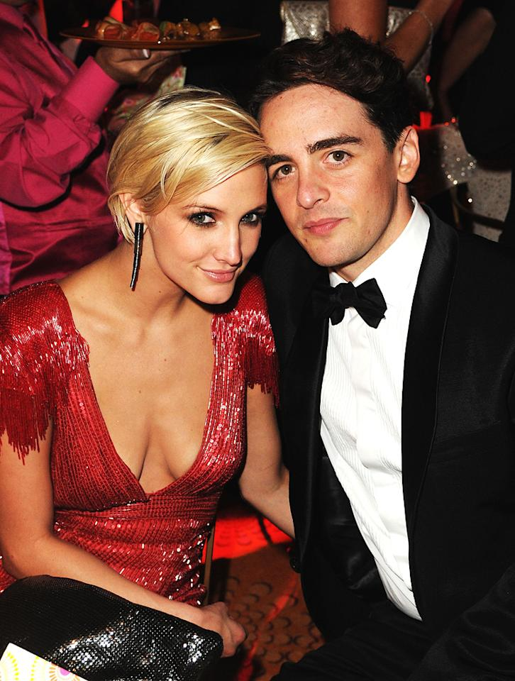 "Ashlee Simpson kept cozy as she cuddled up to her new beau, Vincent Piazza, who plays gangster Charles ""Lucky"" Luciano on ""Boardwalk Empire."" Jeff Kravitz/<a href=""http://www.filmmagic.com/"" target=""new"">FilmMagic.com</a> - September 18, 2011"