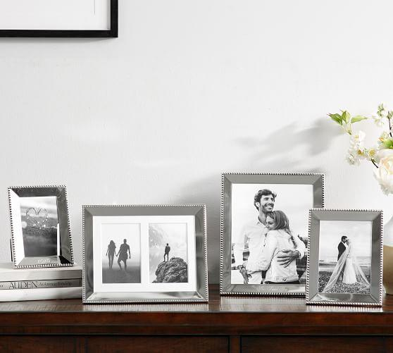 Pottery Barn Personalized Beaded Silver-Plated Frames