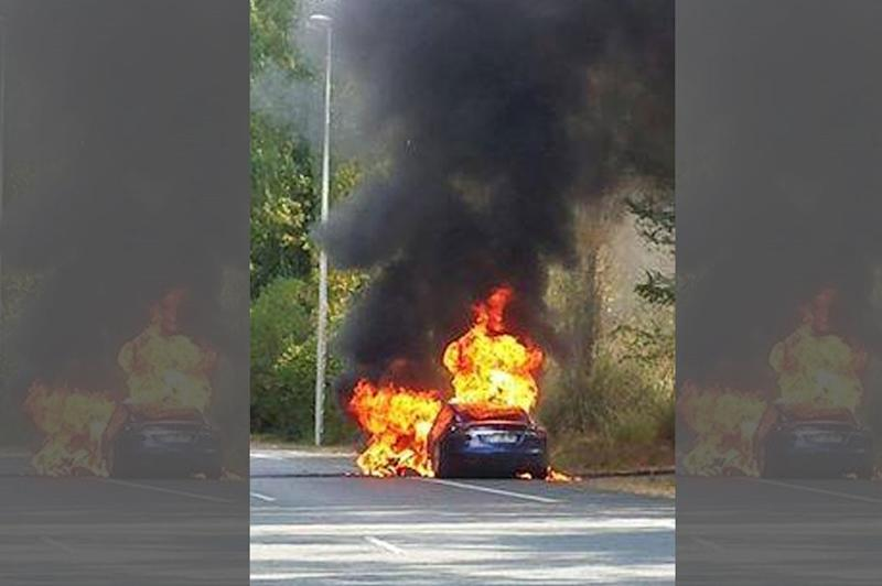 Tesla Model S reportedly caught fire in France during a test drive