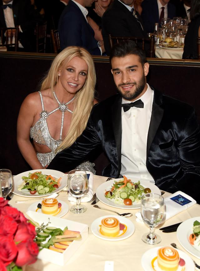Honoree Britney Spears and her date, Sam Asghari, at the GLAAD Media Awards at the Beverly Hilton Hotel in Los Angeles, April 12, 2018. (Photo: J. Merritt/Getty Images for GLAAD)