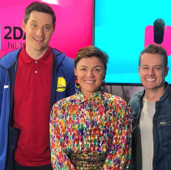 Grant's co-star Em, middle, pointed out schools do need to keep tabs on what goes into kids' lunchboxes. Photo: Instagram/grantdenyer