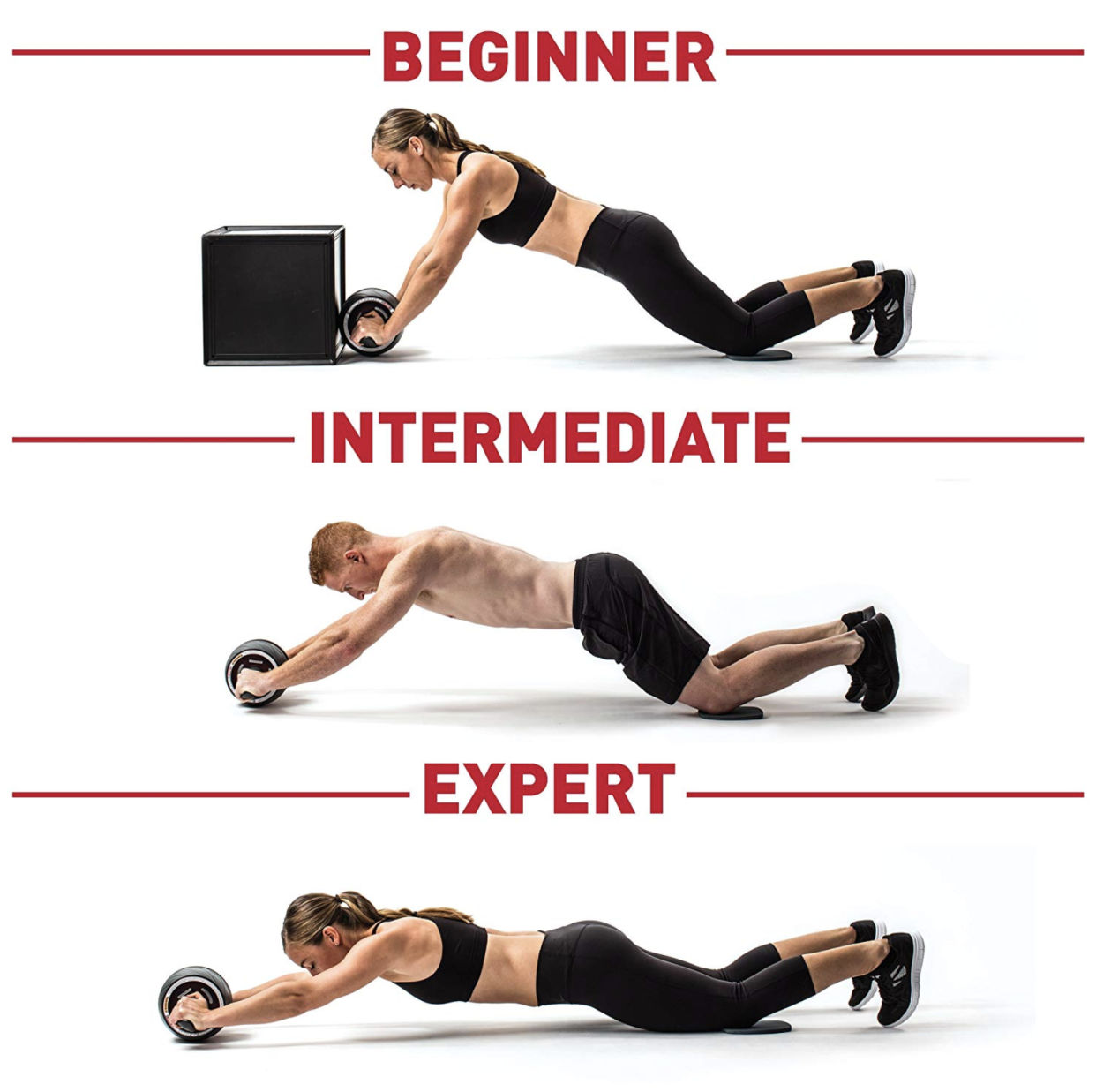 Perfect Fitness Ab Carver Pro Roller for Core Workouts Intensity Levels