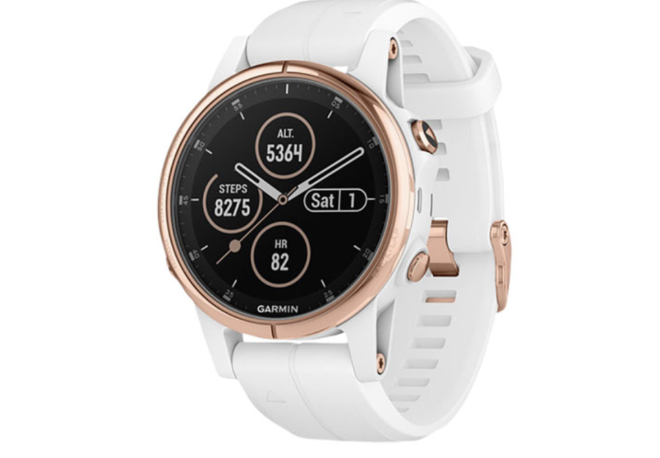 Garmin Fenix 5S Plus Sapphire 42mm GPS Watch with TOPO Mapping - Rose Gold/White
