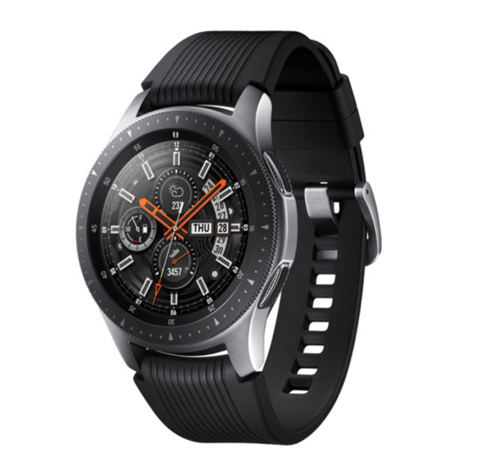 Samsung Galaxy Smartwatch 46mm with Heart Rate Monitor - Silver/Black (Photo via Best Buy)