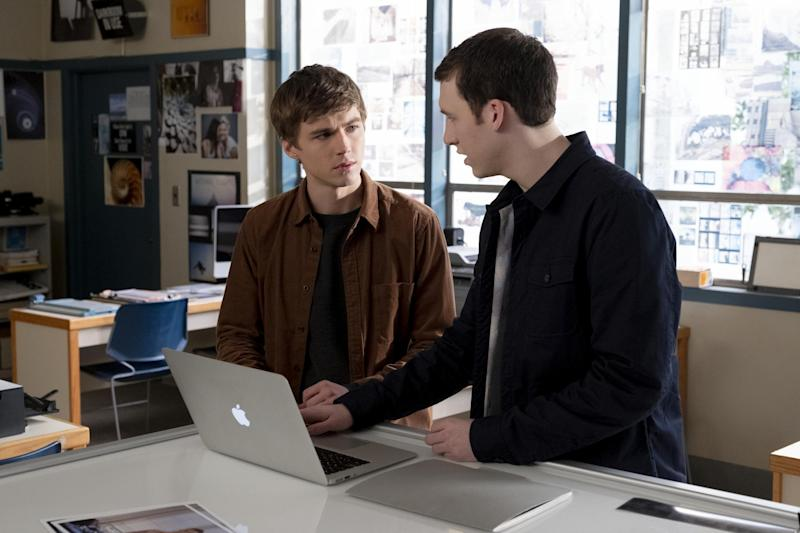 Miles Heizer and Devin Druid in 13 Reasons Why (David Moir/Netflix)
