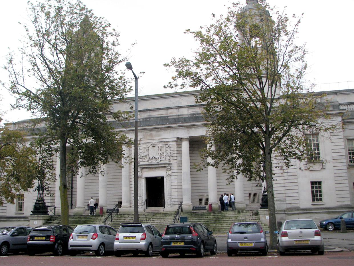 A general view of Cardiff Crown Court in Cardiff, Wales.