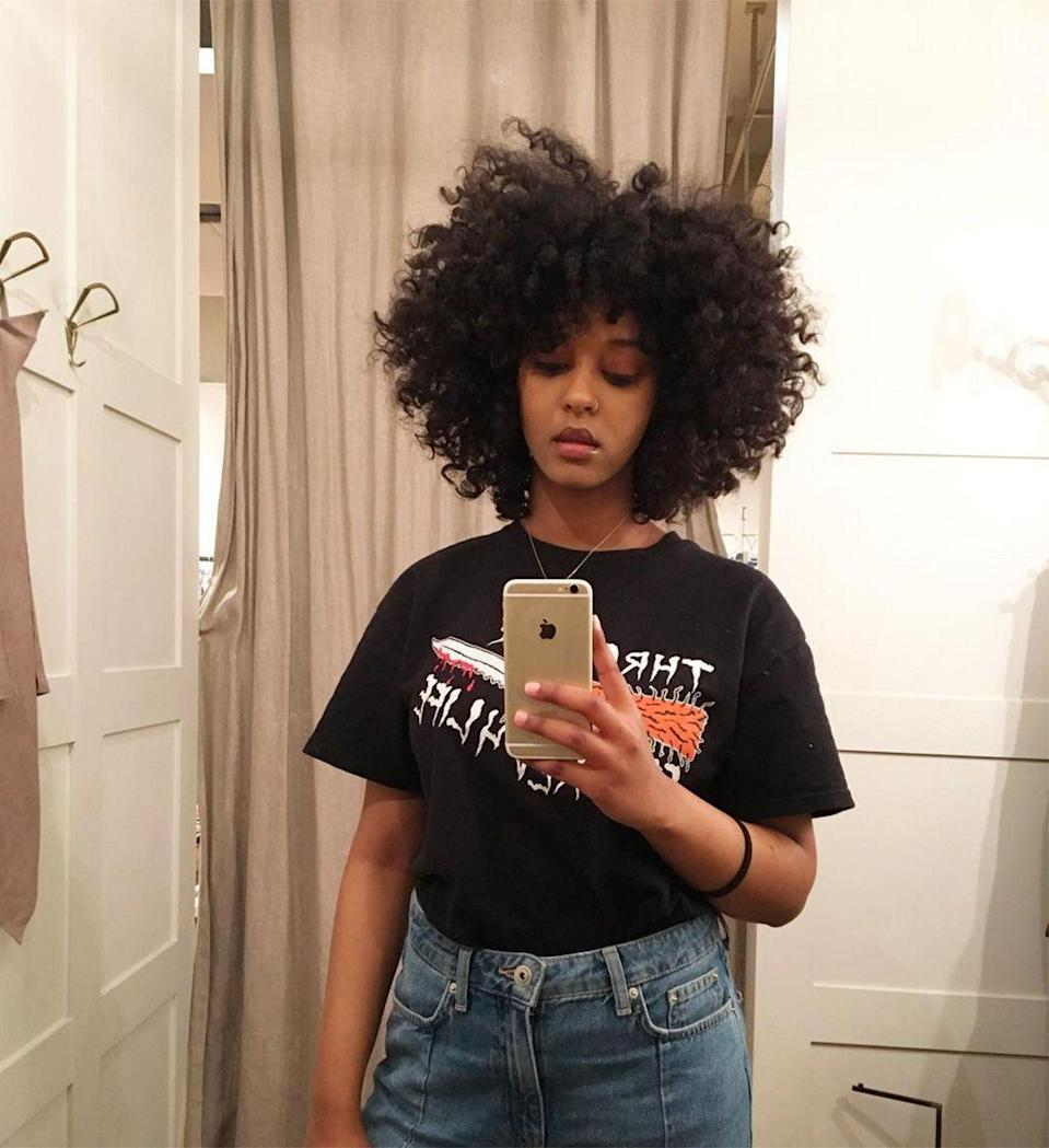 """<p><strong>The Halo</strong></p><p>The body, the bounce, the colour, the curl... We haven't been this jealous of a head of hair in a long time. </p><span class=""""copyright"""">Photo: via @mmalaya.</span>"""