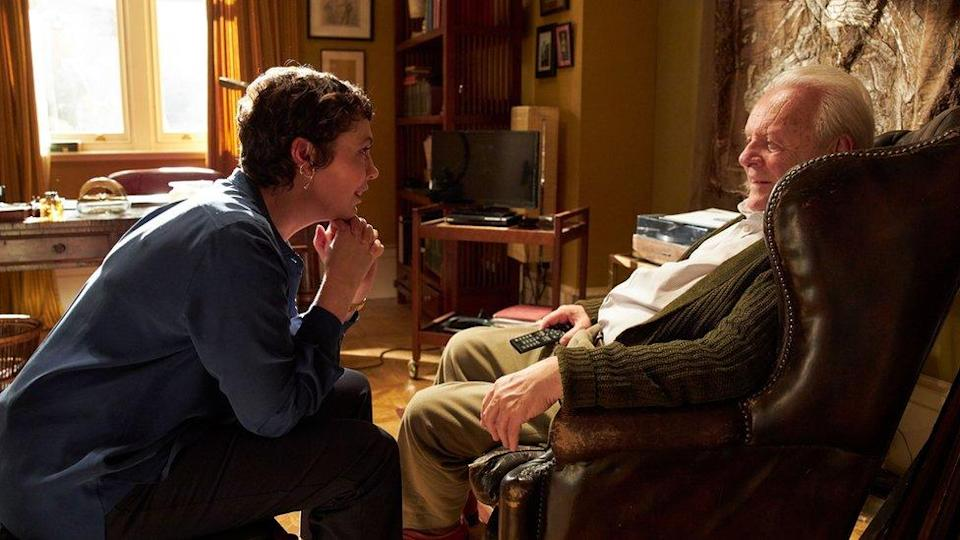 Olivia Colman and Anthony Hopkins in The Father