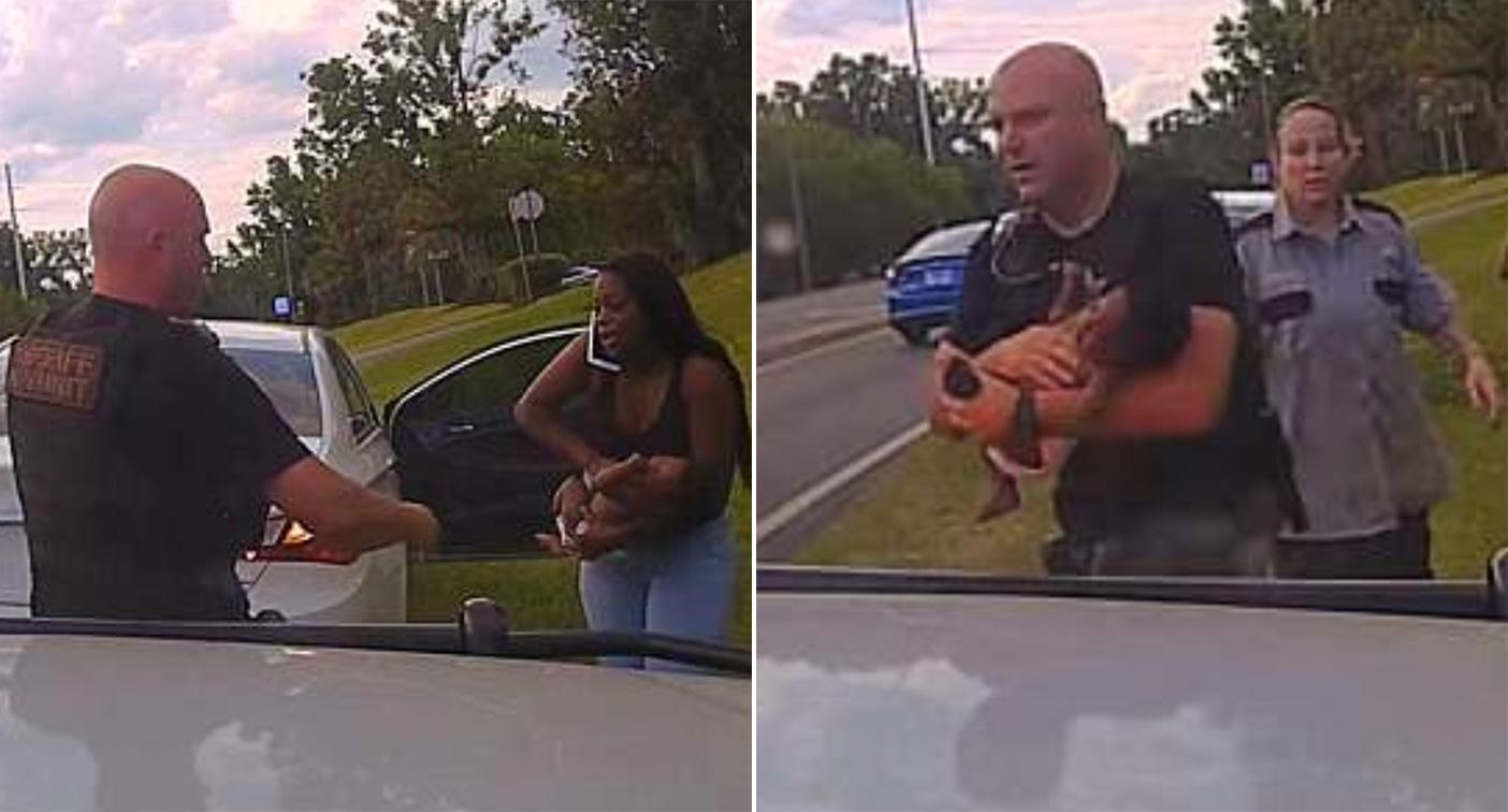 Dashcam footage from the officer's car captured the dramatic scenes as they unfolded (Marion County Sheriff's Office)