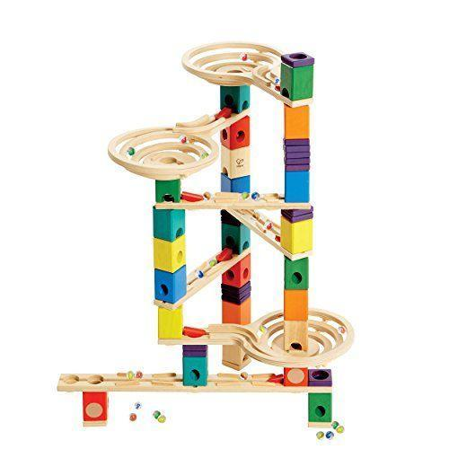 """<p><strong>Hape</strong></p><p>amazon.com</p><p><strong>$138.85</strong></p><p><a href=""""https://www.amazon.com/dp/B00BJEYLOC?tag=syn-yahoo-20&ascsubtag=%5Bartid%7C10055.g.26859132%5Bsrc%7Cyahoo-us"""" rel=""""nofollow noopener"""" target=""""_blank"""" data-ylk=""""slk:Shop Now"""" class=""""link rapid-noclick-resp"""">Shop Now</a></p><p><span>The sturdy, well-constructed </span><strong>wooden pieces can be endlessly reconfigured</strong> <strong>to send marbles racing</strong><span>. The system is great for teaching kids STEM principles and problem solving skills with a mixture of spins, drops, and speed based on how they set up the layout. Each color block has a different function, making it a creative approach to marble runs. <em>Ages 4+</em></span><br></p>"""