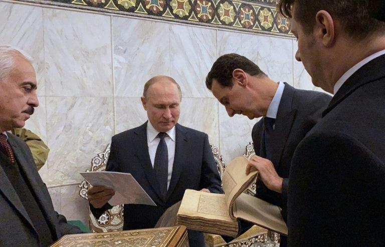 The two leaders also visited Damascus' historic Ummayad Mosque in the Old City of the Syrian capital