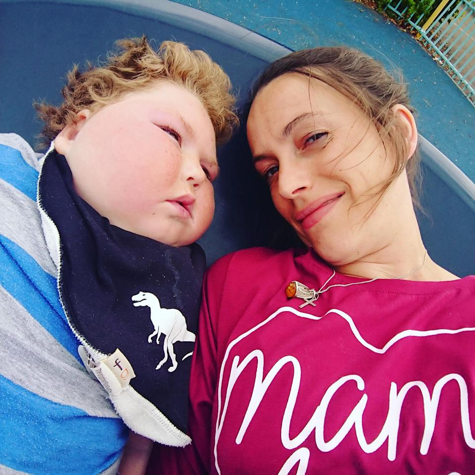 Benjamin's mum, Alex, says it is difficult not knowing what is wrong with her son [Photo: SWNS]