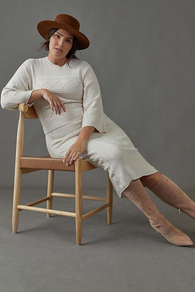 """<br><br><strong>Current Air</strong> Hayden Sweater Midi Dress, $, available at <a href=""""https://go.skimresources.com/?id=30283X879131&url=https%3A%2F%2Fwww.anthropologie.com%2Fshop%2Fhayden-sweater-midi-dress%3Fcolor%3D011%26type%3DPLUS%26quantity%3D1"""" rel=""""nofollow noopener"""" target=""""_blank"""" data-ylk=""""slk:Anthropologie"""" class=""""link rapid-noclick-resp"""">Anthropologie</a>"""