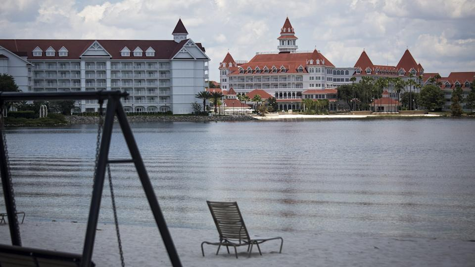 Grand Floridian Resort with empty beach