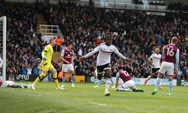 "<span class=""element-image__caption"">The 16-year-old Ryan Sessegnon celebrates scoring Fulham's opener in the win against Aston Villa on Monday.</span> <span class=""element-image__credit"">Photograph: BPI/REX/Shutterstock</span>"