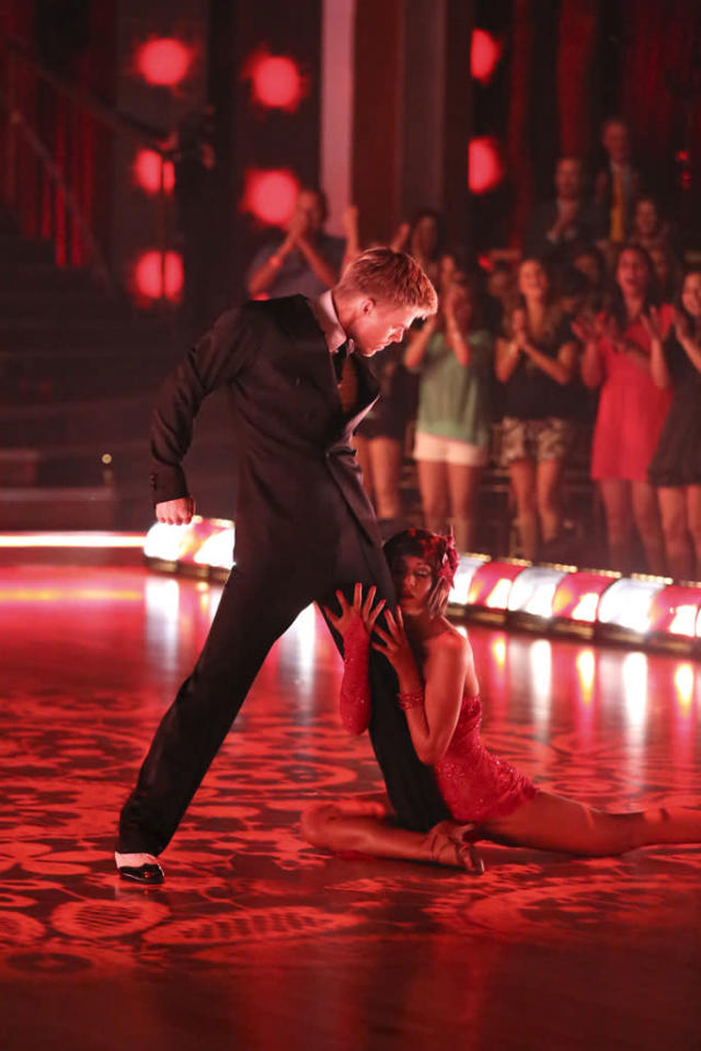 "Derek Hough and Kellie Pickler perform on ""Dancing With the Stars."""