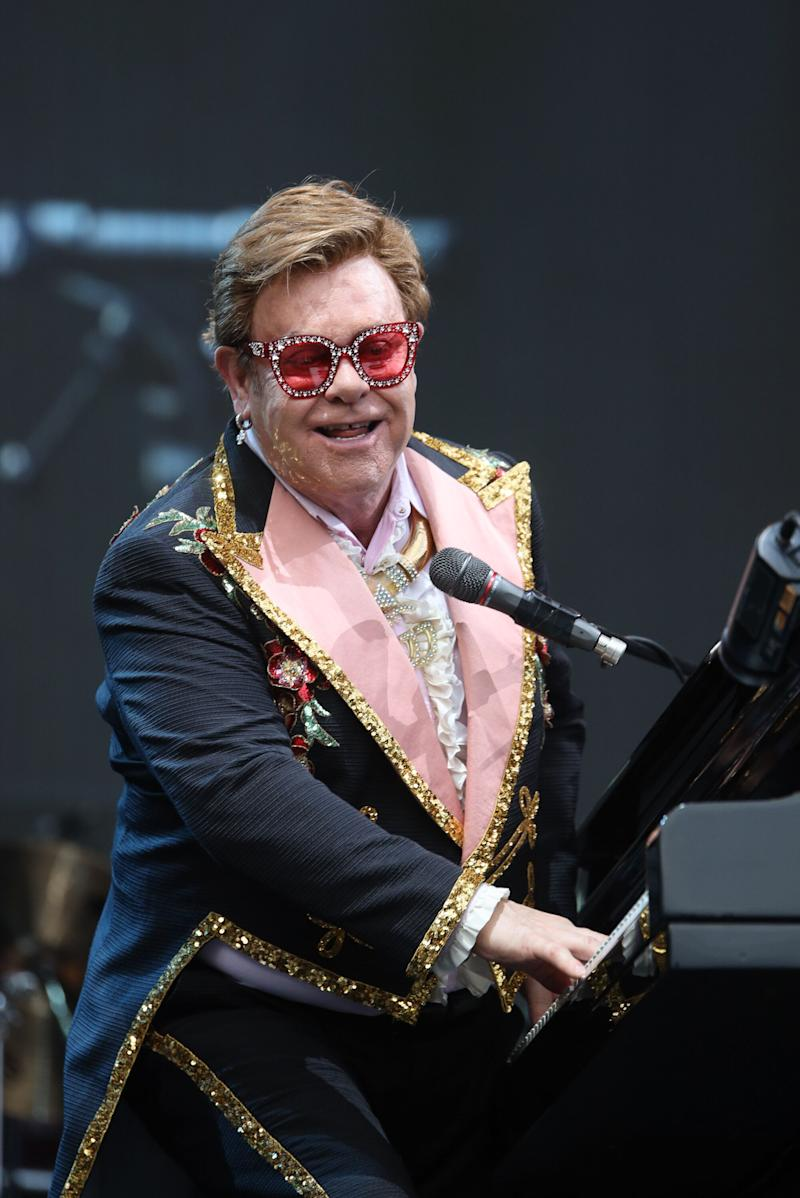 Elton John performing in Auckland, before he was forced to cut his show short (Photo: Dave Simpson via Getty Images)