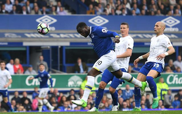 Romelu Lukaku scores for Everton against Leicester  - Getty Images Europe