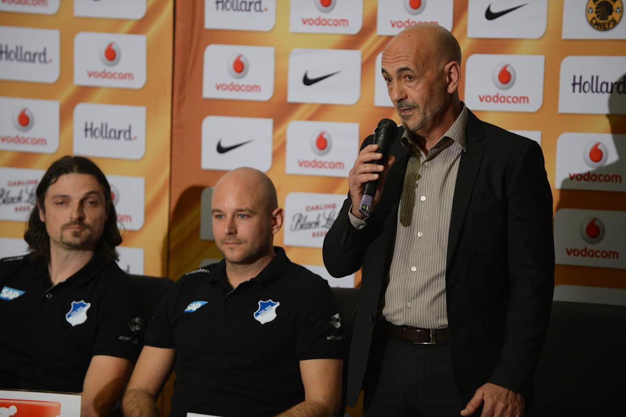 Well known South African soccer agent and CEO of Prosport International, Mike Makaab and legendary PSL coach Gordon Igesund are on the winning side