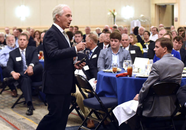 Sen. Bob Corker, R-Tenn., delivered a blistering rebuke of President Trump in Chattanooga last week, saying hehas not yet demonstrated the stability or competence required for an American president to succeed. (Photo: Tim Barber/Chattanooga Times Free Press via AP)