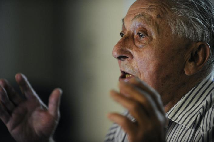 """<span class=""""caption"""">Walter Plywaski fought for atheists to be given citizenship rights.</span> <span class=""""attribution""""><a class=""""link rapid-noclick-resp"""" href=""""https://www.gettyimages.com/detail/news-photo/boulder-resident-and-holocaust-survivor-walter-plywaski-news-photo/161159773?adppopup=true"""" rel=""""nofollow noopener"""" target=""""_blank"""" data-ylk=""""slk:Helen H. Richardson/The Denver Post via Getty Images"""">Helen H. Richardson/The Denver Post via Getty Images</a></span>"""