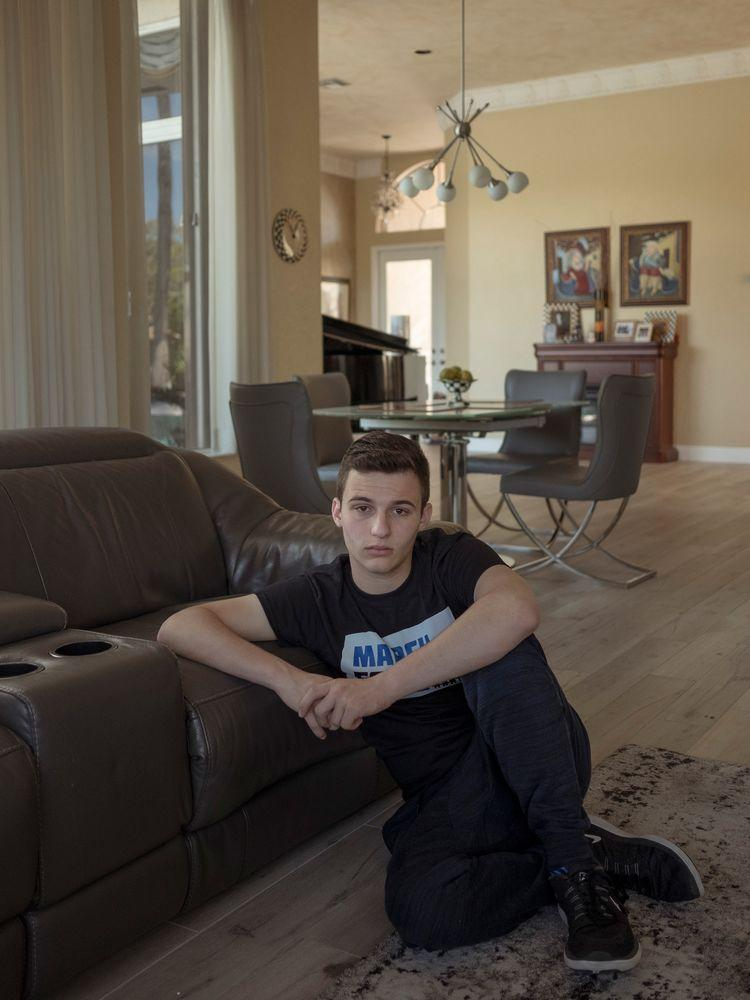 Cameron Kasky at his home in Parkland.