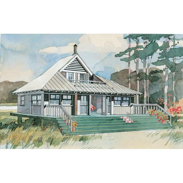 6 tiny beach house plans for Tiny beach house plans