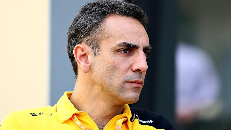 Pictured here, Renault team principal Cyril Abiteboul says 2019 has left him with more grey hair.