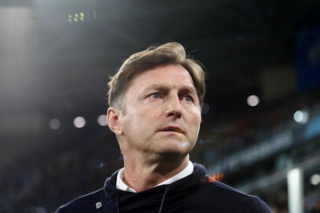 Soccer Football - Europa League Round of 16 Second Leg - Zenit Saint Petersburg vs RB Leipzig - Stadium St. Petersburg, Saint Petersburg, Russia - March 15, 2018 RB Leipzig coach Ralph Hasenhuettl before the match REUTERS/Maxim Shemetov