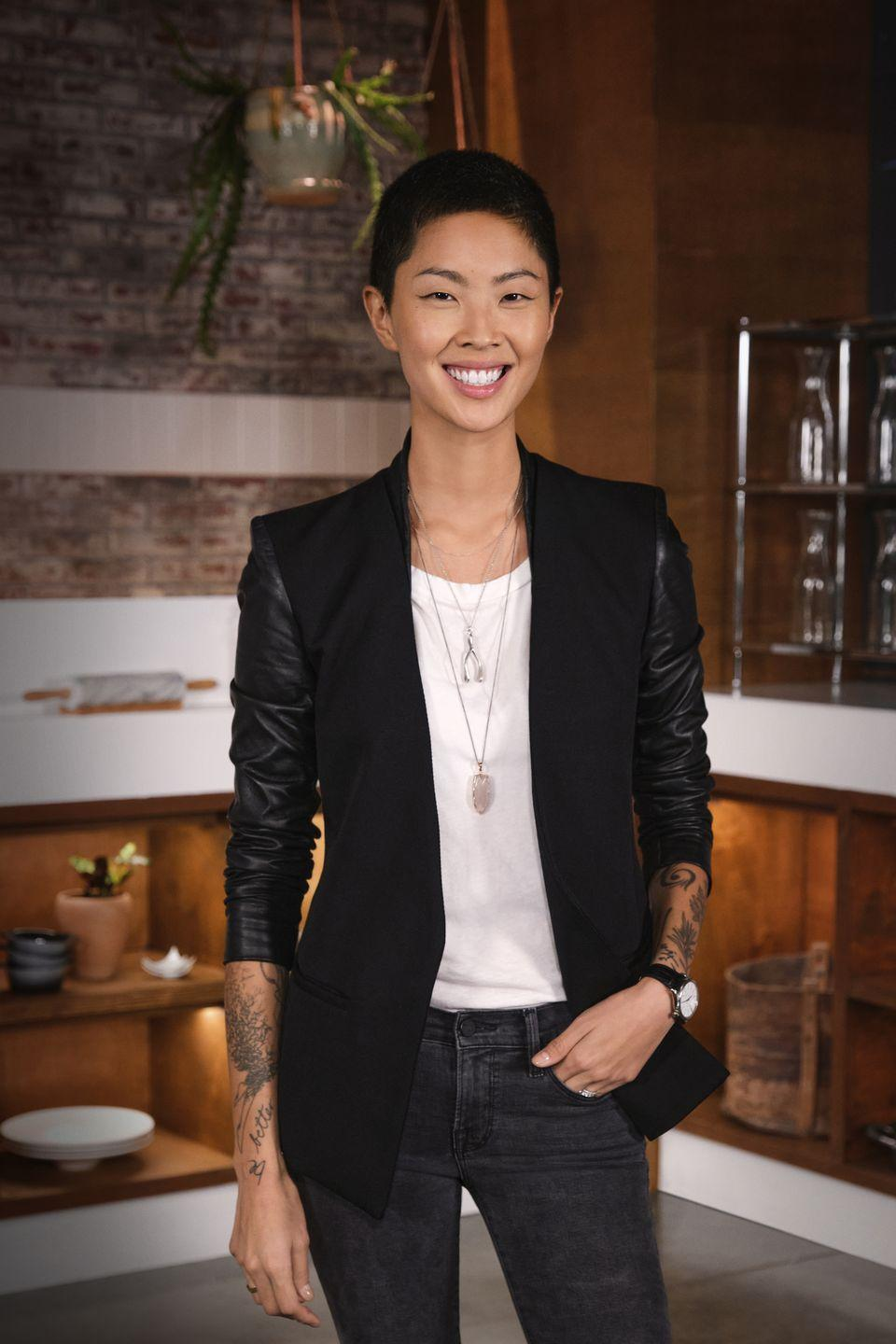 """<p>After winning the show, Kristen continued to build a prestigious reputation within the industry, while also working as a host on <em>36 Hours</em> and publishing her cookbook <em><a href=""""https://www.amazon.com/Kristen-Kish-Cooking-Recipes-Techniques/dp/0553459767?&tag=delish_auto-append-20&ascsubtag=[artid
