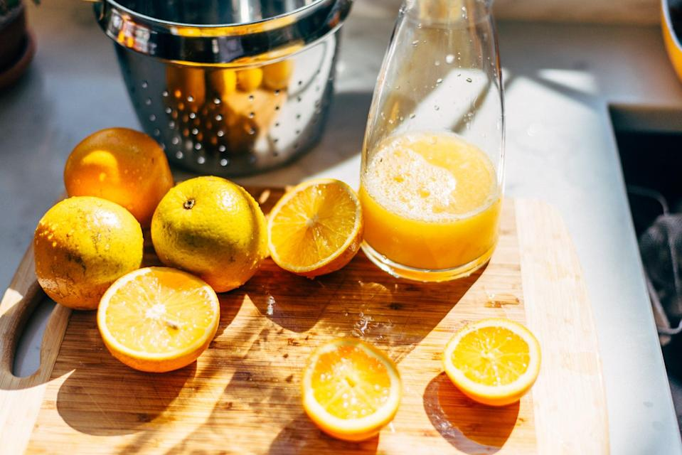 <p>Making your own freshly-squeezed juice from fruits and vegetables will help you avoid buying it in plastic containers. Not only will you cut back on plastic this way, but you'll also know <i>exactly</i> what goes into your juice, which makes it healthier.</p>