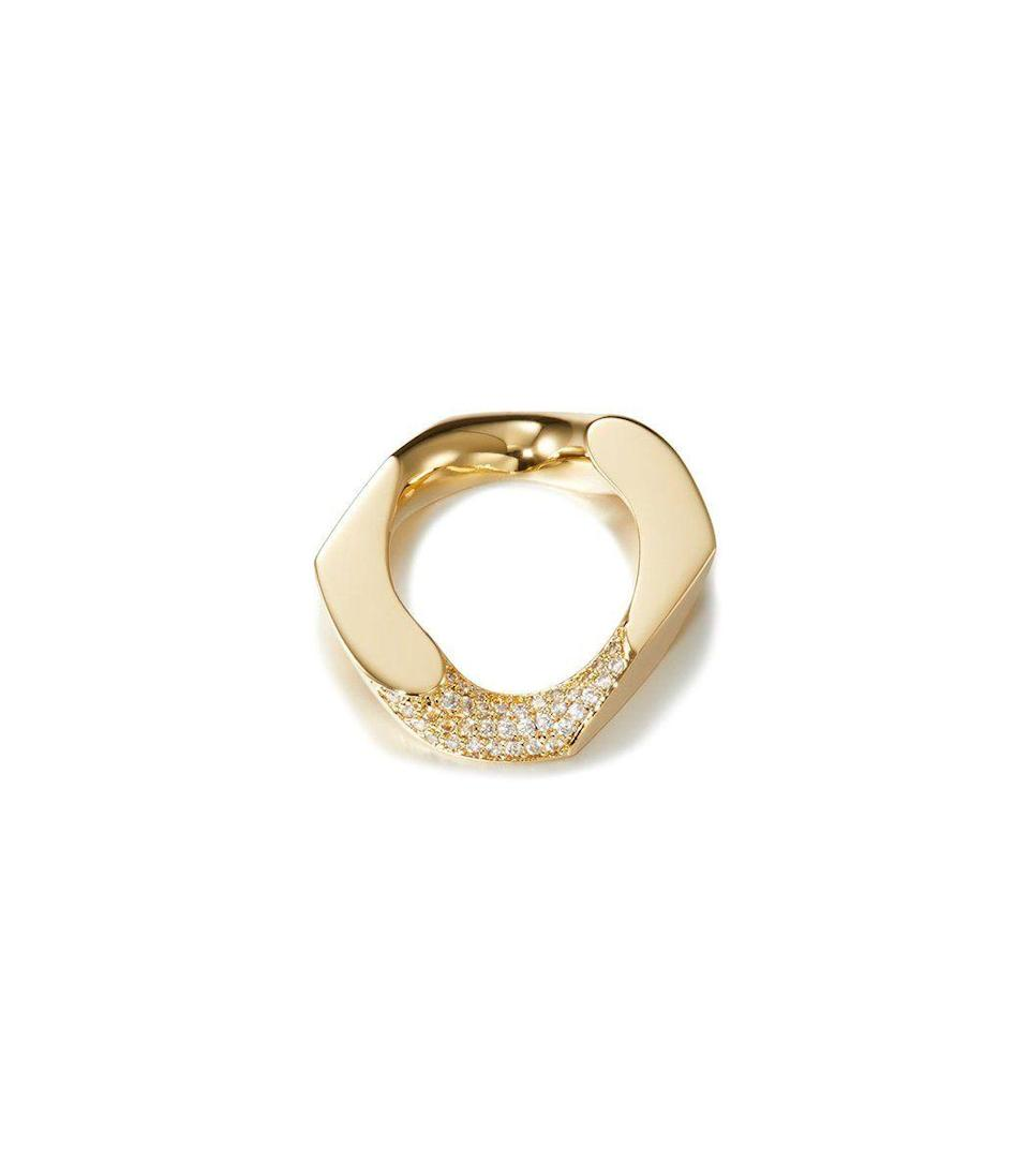"""<p><strong>Numbering</strong></p><p>ShopBAZAAR.com</p><p><strong>$170.00</strong></p><p><a href=""""https://go.redirectingat.com?id=74968X1596630&url=https%3A%2F%2Fshop.harpersbazaar.com%2Fdesigners%2Fnumbering%2Fchain-unit-pav-ring-58916.html&sref=https%3A%2F%2Fwww.harpersbazaar.com%2Ffashion%2Ftrends%2Fg34644326%2Fholiday-jewelry%2F"""" rel=""""nofollow noopener"""" target=""""_blank"""" data-ylk=""""slk:Shop Now"""" class=""""link rapid-noclick-resp"""">Shop Now</a></p><p>This is the layering essential that is a must-have going into the new year. It will pair perfectly with every manicure.</p>"""