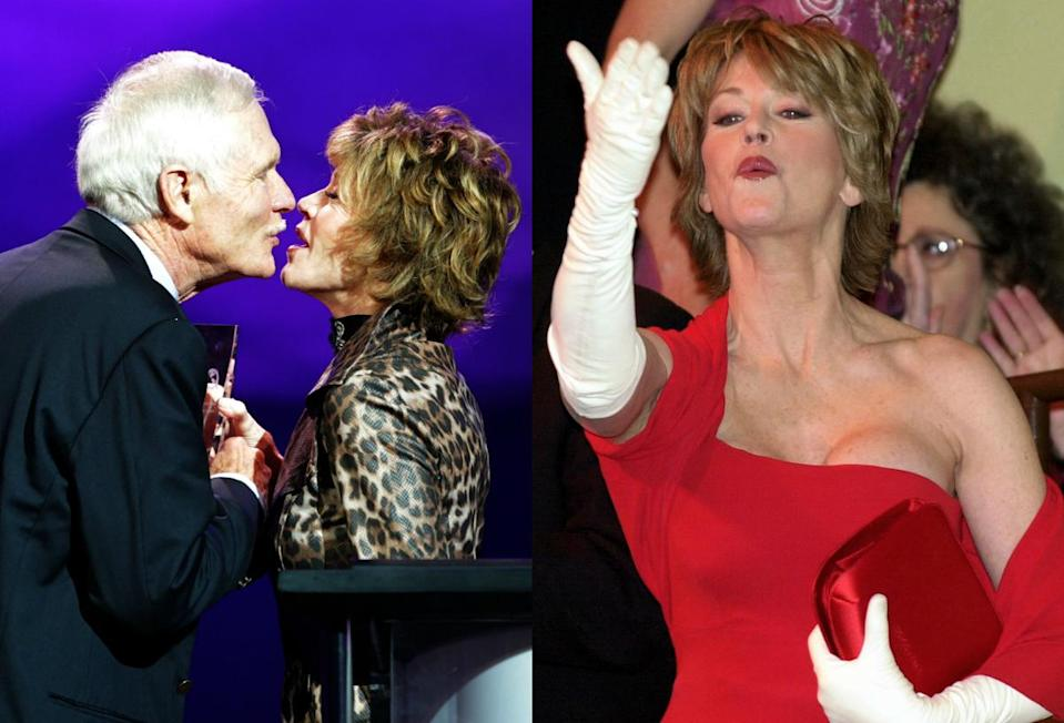 """""""If you move around too much, things start to fall!"""" Jane Fonda admits she worries about the wrinkles when it comes to kissing scenes.<em> (Photo: Getty)</em>"""