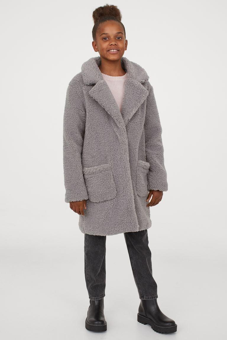 <p>Bundle them up in this matching <span>H&M Teddy Bear Coat</span> ($55).</p>