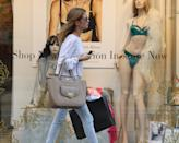 LONDON, ENGLAND - AUGUST 27: Millie Mackintosh is pictured shopping at Petits Bisous on Kings's Road on August 27, 2013 in London, England. (Photo by Neil P. Mockford/FilmMagic)