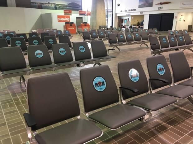 Gander's airport is a ghost town these days. Passenger traffic plummeted in 2020 to just 51,000 passengers. (Garrett Barry/CBC - image credit)
