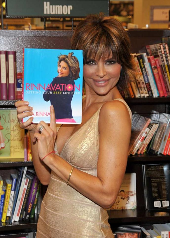 "Following the success of her nonfiction best-seller, <i>Rinnivation: Getting Your Best Life Ever</i>, former ""Melrose Place"" minx Lisa Rinna decided to delve into the world of fiction with her novel <i>Starlit</i>, which hit store shelves in October. Dr. Billy Ingram/<a href=""http://www.wireimage.com"" target=""new"">WireImage.com</a> - May 28, 2009"