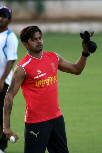JAIPUR, INDIA - APRIL 07: Rajasthan Royal's S Sreesanth during a practice session in Jaipur on Saturday. (Photo by Kaushik Roy/India Today Group/Getty Images)