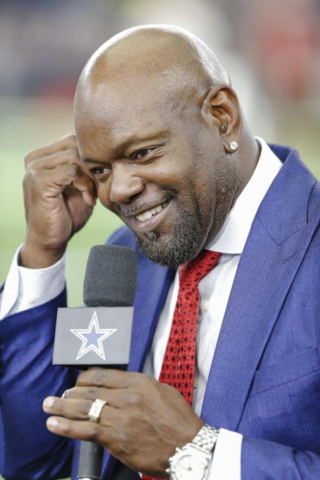 """<p>The former Dallas Cowboy now has his stake in several business ventures. His latest is a chain of <a href=""""https://www.foxbusiness.com/features/nfl-legend-emmitt-smith-rushes-into-the-barbershop-business"""" rel=""""nofollow noopener"""" target=""""_blank"""" data-ylk=""""slk:high-end barber shops"""" class=""""link rapid-noclick-resp"""">high-end barber shops</a>. Imagine getting your haircut and owner Emmitt Smith walks in?!</p>"""