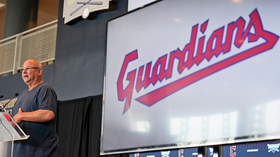 Cleveland Indians manager Terry Francona speaks at a news conference, Friday, July 23, 2021, in Cleveland.