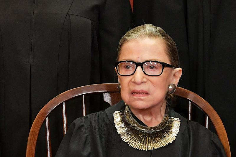 US Supreme Court justice Ruth Bader Ginsburg has died at the age of 87 (AFP via Getty Images)