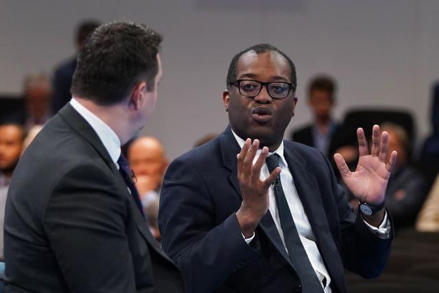 Kwasi Kwarteng during the Conservative Party conference